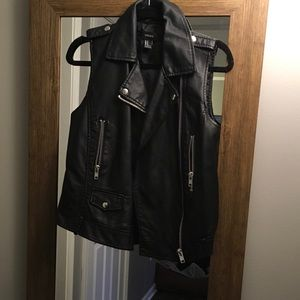 F21 Faux Leather Vest